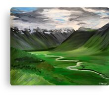 Iceland. 30 x 24 Acrylic Painting Canvas Print