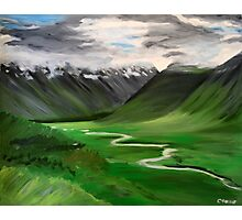 Iceland. 30 x 24 Acrylic Painting Photographic Print
