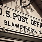 Blawenburg Post Office Sign by Sheil Naik