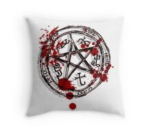 devil's trap Throw Pillow