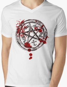 devil's trap Mens V-Neck T-Shirt