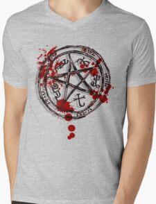 devil's trap Mens V-Neck T-Shirt
