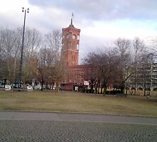 The red  town hall Berlin by Rebecca Haertel