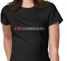 I Heart Lumberjacks Womens Fitted T-Shirt