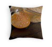 Bite me - a tasty physalis Throw Pillow