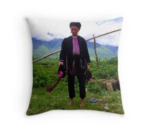 Shy Hill Tribe local Throw Pillow