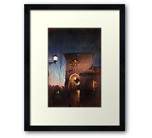 The Night Rolls In Framed Print
