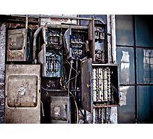 Urban Decay - Fuse Box Photographic Print