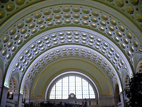 Washington DC - Union Station - Series - Vaulted Ceilings  *framed print sold by Jack McCabe