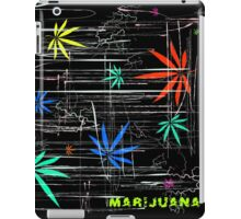 Colorful Marijuana Leaves and Scratches iPad Case/Skin