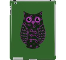 Green and Lavender Floral Owl iPad Case/Skin