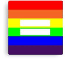 Love Wins, Equality Design Canvas Print