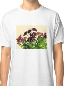 Burgundy Petals Classic T-Shirt