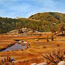Landscape Painting - Estes Park Colorado - 8 x 10 Oil by Daniel Fishback