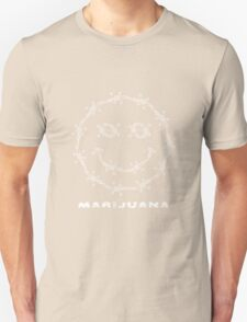 Smile. Barbed Wire and Marijuana Leaves T-Shirt