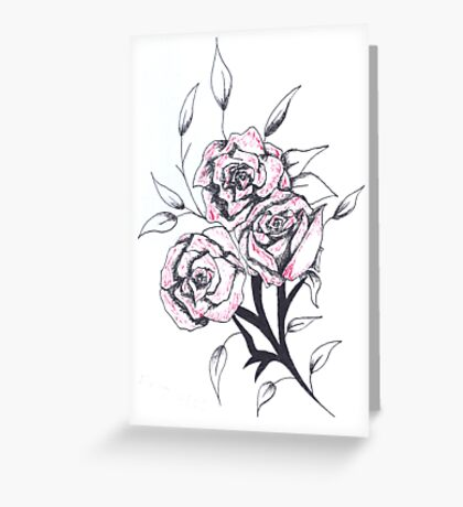 Quick sketch: roses Greeting Card