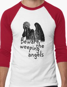 Beware the Weeping Angels  Men's Baseball ¾ T-Shirt
