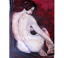 Acrylic painting of a woman. Photographic Print