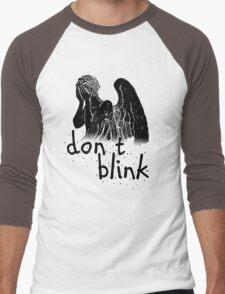 don't blink! Men's Baseball ¾ T-Shirt