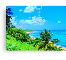 Old San Juan Coast Canvas Print