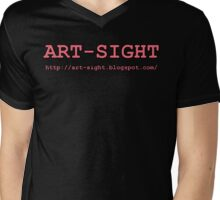 ART-SIGHT light pink Mens V-Neck T-Shirt