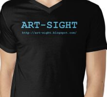 ART-SIGHT light blue Mens V-Neck T-Shirt