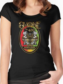 Smoke No. 420 Women's Fitted Scoop T-Shirt
