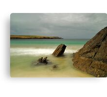 Spiggie Beach Again Canvas Print