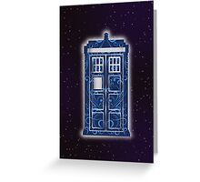 Blue Filigree TARDIS Greeting Card