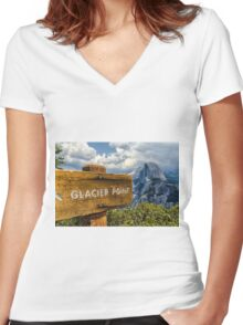 GLACIER POINT Women's Fitted V-Neck T-Shirt