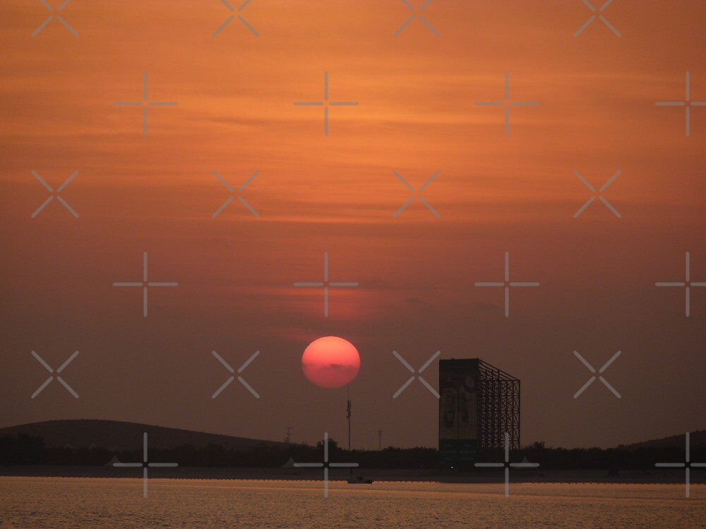 sunset in Abu Dhabi by Fran E.