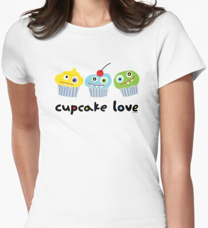 Cupcake Love ll Womens Fitted T-Shirt