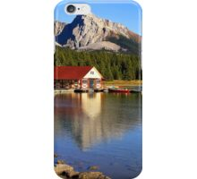 Historic Boathouse at Maligne Lake, Jasper NP iPhone Case/Skin