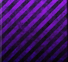 Purple And Black Grunge Striped Design by CiaoBellaLtd