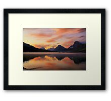 Sunrise at Bow Lake, Banff NP Framed Print