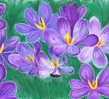 Crocus Flowers by eyewrisz