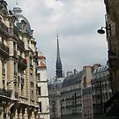 Paris Church steeple by Sherry Freeman