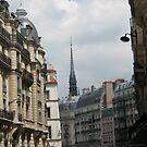 Paris Church steeple by Sherry Freeman