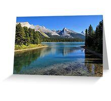 Maligne Lake, Jasper NP Greeting Card