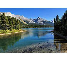 Maligne Lake, Jasper NP Photographic Print