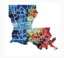 Louisiana Map - State Maps By Sharon Cummings Kids Clothes