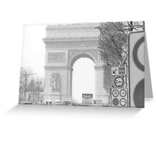 Traffic de Triomphe Greeting Card