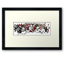 4 Teams One Goal Framed Print