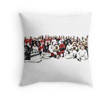 4 Teams One Goal Throw Pillow