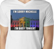 Mr President has some business to attend to tonight Mens V-Neck T-Shirt