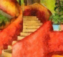 Mexican Stairs in Watercolor by Teresa Zieba