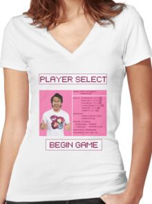 Markiplier Player Select Screen Women's Fitted V-Neck T-Shirt
