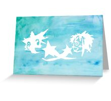 Kingdom Hearts Watercolor Greeting Card