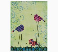 Three Birds - Spring Art - Bird Art By Sharon Cummings Kids Tee
