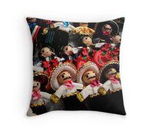 Mariachi Dolls Throw Pillow